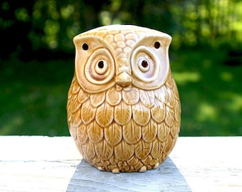 chubby little owl candle holder