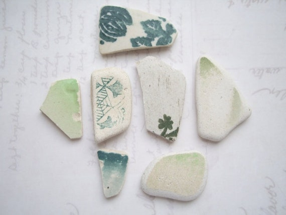Rare Green Scottish Sea Pottery SP430