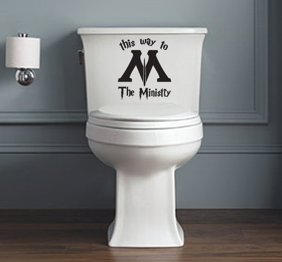 Unofficial Ministry of Magic Toilet Decal 2