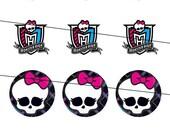 Digital Monster High Images for Bottlecap Art  Emailed TODAY