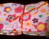Set of three burp cloths-dots/paisley/flowers
