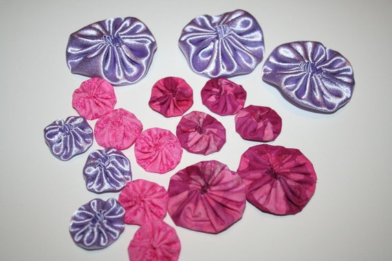 Yoyos Purple burgundy pink fabric ready to ship