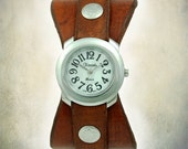 Women's Handmade Leather Watch - Hourglass Cuff