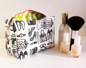 "Maxi Makeup Bag in ""Fashionista"" print by Lis Sartori Designs"