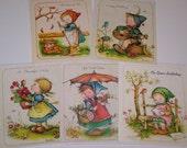 Vintage Greeting Cards Little Children Helpers Anneliese