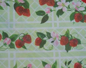 Unused Vintage Package Retro Gift Wrap - Strawberries