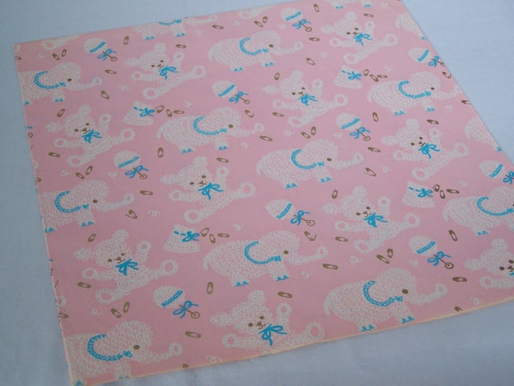 Vintage Baby Shower Gift Wrap Sheet