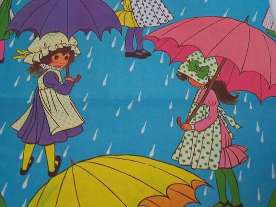 Vintage Unused Gift Wrap Sheet  Girls Birthday or Shower