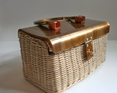 Vintage Marcus Brothers Around the town Lucite lunch-box handbag
