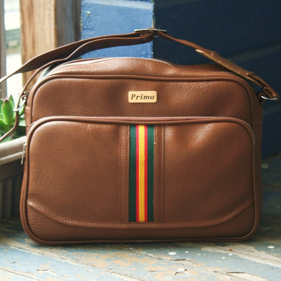 Vintage Rasta Stripe Carry-All Carry On