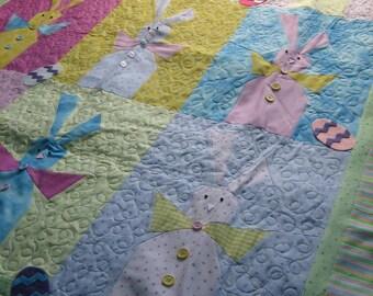 Scrappy Bunny Wall hanging