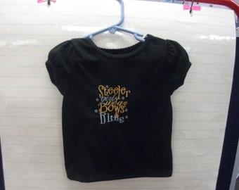 Pittsburgh Steelers shirt for girls Once a steeler fan always a steeler fan so start them early From newborn to toddler declare your team