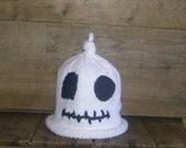 Newborn Halloween Baby Hat, Ghost Handmade Cotton Knit hat for Newborn Babies
