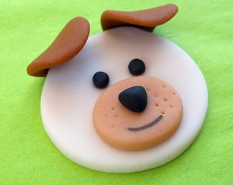12 DOGS and CATS.Fondant Cupcake Toppers