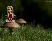 Megan's Mushroom 8x10 matted print