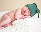 Organic Baby Hat -  Eco Friendly Knot Hat - Emerald Green - Newborn - Baby Shower