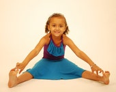 Eco - Friendly Circle Skirt for Girls -Blue -Several Colors Available - Organic Clothing
