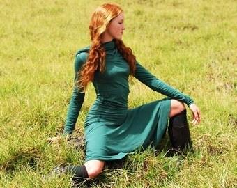 Women's Circle Skirt  - Emerald Green - Eco Friendly - Organic Clothing - Several Colors