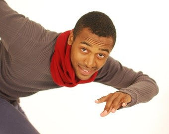 Cowl Scarf-  Winter Cowl - Organic Cotton Clothing - Red - Gift for Men