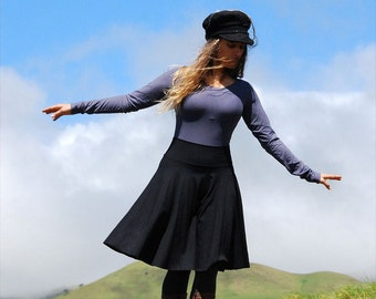 Womens Circle Skirt - Black Skirt - Organic Clothing - Eco Friendly - Several Colors Available