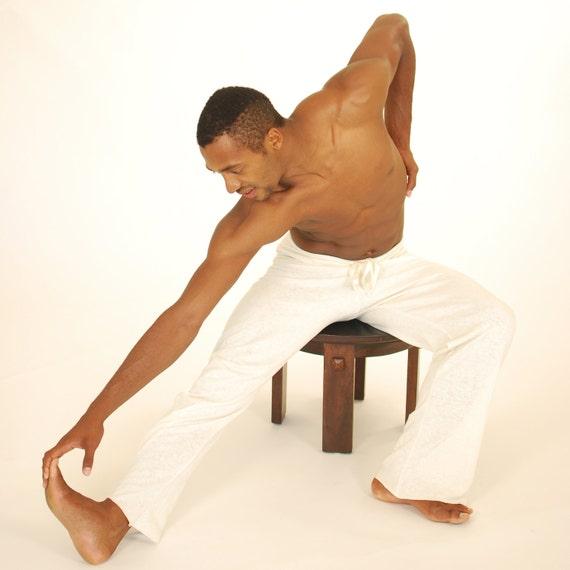 Men's Yoga Pants - Lounge Pants - Natural Organic Cotton Hemp - Eco Friendly - Organic Clothing