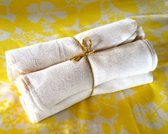 Organic Baby - Cloth Baby Wipes - Wash Cloths - Eco Friendly - Organic Cotton French Terry - Set of 12