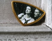 Sailor Dress Woman In Love Brooch Made With Vintage 1940s Photograph Available only in Silver