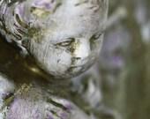 BOGO Sale Stone Cherub Signed Fine Art Photograph Size 7 by 9.5