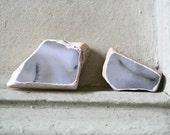 L'Inconnue de la Seine Up Close Deconstructed Photo Stones Set of Two