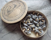 Old french cardboard box with wicks