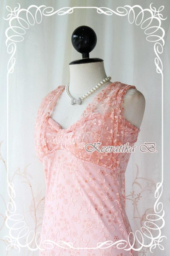 Princess Jasmine II - Prom Party Dinner Dancing Beach Hawaii Dress Peachy Indian Gritter Lace Strapless Dress Matching Halter