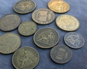 lot 4   French Coin  Dating to 1922 to 1937 brass french coin collection