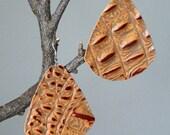 Huge Statement Leather Alligator Print Earrings