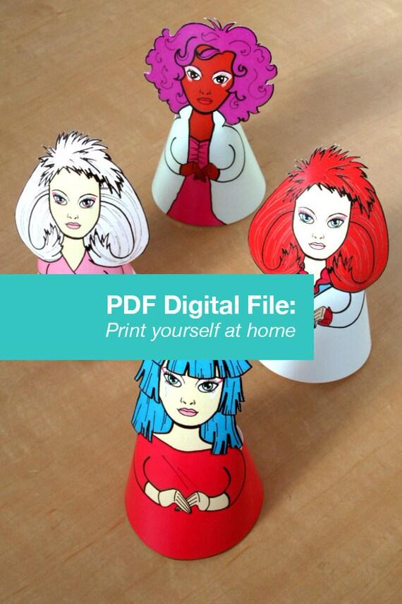 Jem Holograms Illustration Paper Doll Ornaments PDF