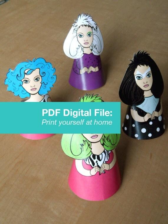 Misfits Holograms Illustration Paper Doll Ornaments PDF