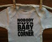 Nobody Puts Baby in a Corner baby onesie Dirty Dancing Baby bodysuit MORE COLORS