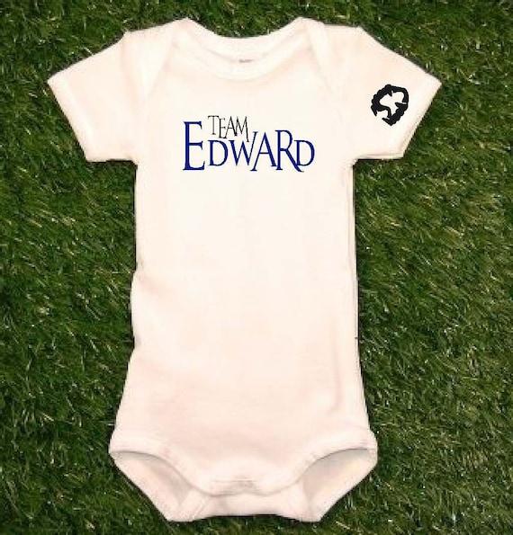 Twilight Team Edward Baby Onesie Team Edward Onesie Team Edward Bodysuit