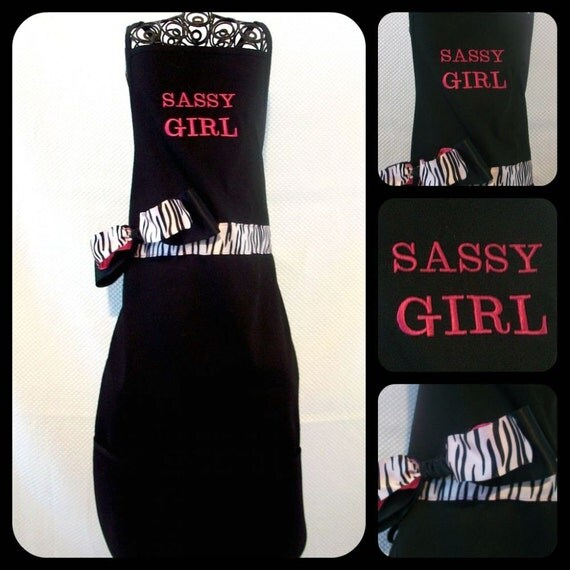 Adult Sassy Girl Apron Ready to ship