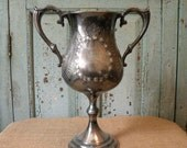 RESERVED FOR DIANE  silverplate vintage trophy