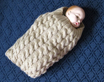 Knit cables baby cocoon pattern