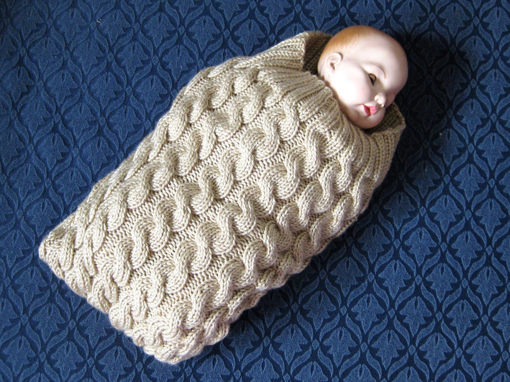 Knitting Patterns For Baby Cocoon Free : Knit cables baby cocoon pattern