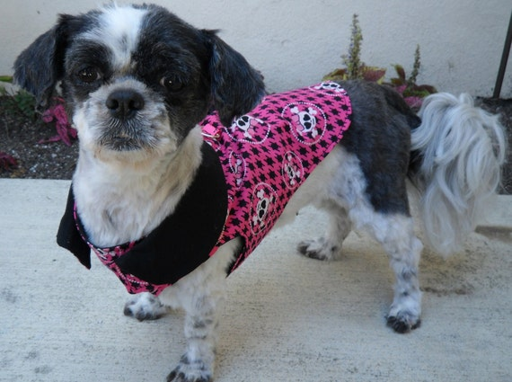 Made to Order Pink and Black Girl Skull Dog Harness Made to Order