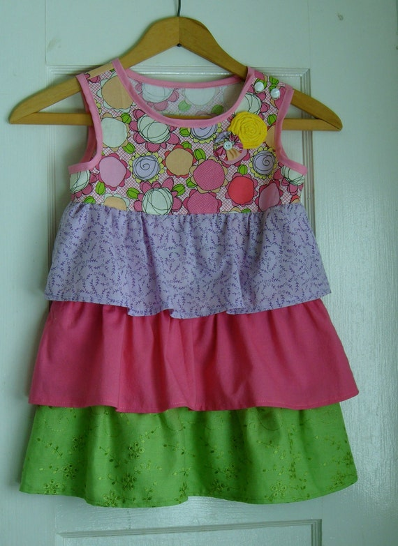 RESERVED Easter Spring Ruffle Dress Size 3