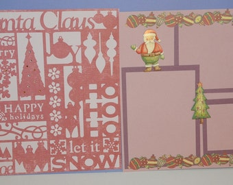 Old Fashioned Christmas --- Premade 2 Page --- Scrapbook Pages --- Just add your pictures