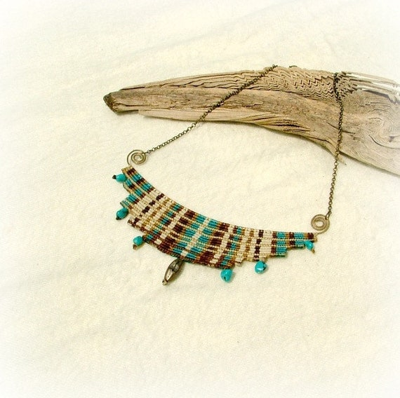 Goddess necklace - cavandoli macrame