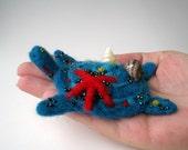 Marine turtle - miniature soft sculpture