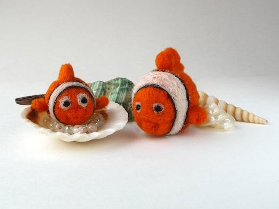 Clown Fishes - miniature soft sculptures