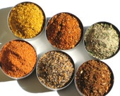 SALE Spice Sampler - 6 spices for gourmet cooking - diy gift for foodies / hostess / gift for men and women