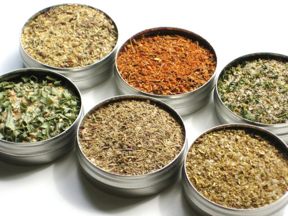 Fish & Seafood Spice Sampler - 6 mouth watering flavors / BBQ / cooking / grilling - birthday gift / foodie / dry rubs for the grill master