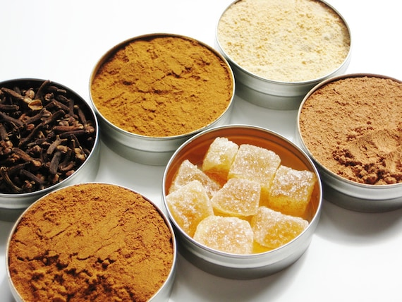 Custom Baking Spice Kit - 61mm tins - Choose 6 spices - put together an aromatic baking spice kit and get a jump start on holiday baking